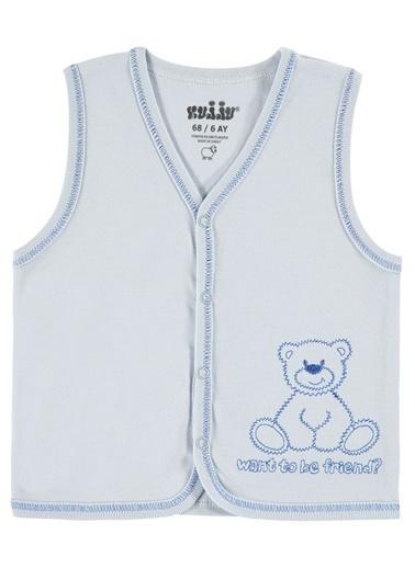 Kujju Bebek Penye Yelek Mavi Mavi